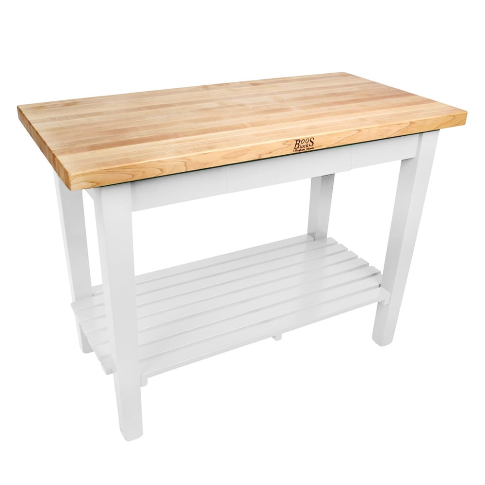 """John Boos C4824-S Classic Country Hard Maple Table, 48 x 24 x 36"""" H, Alabaster"""