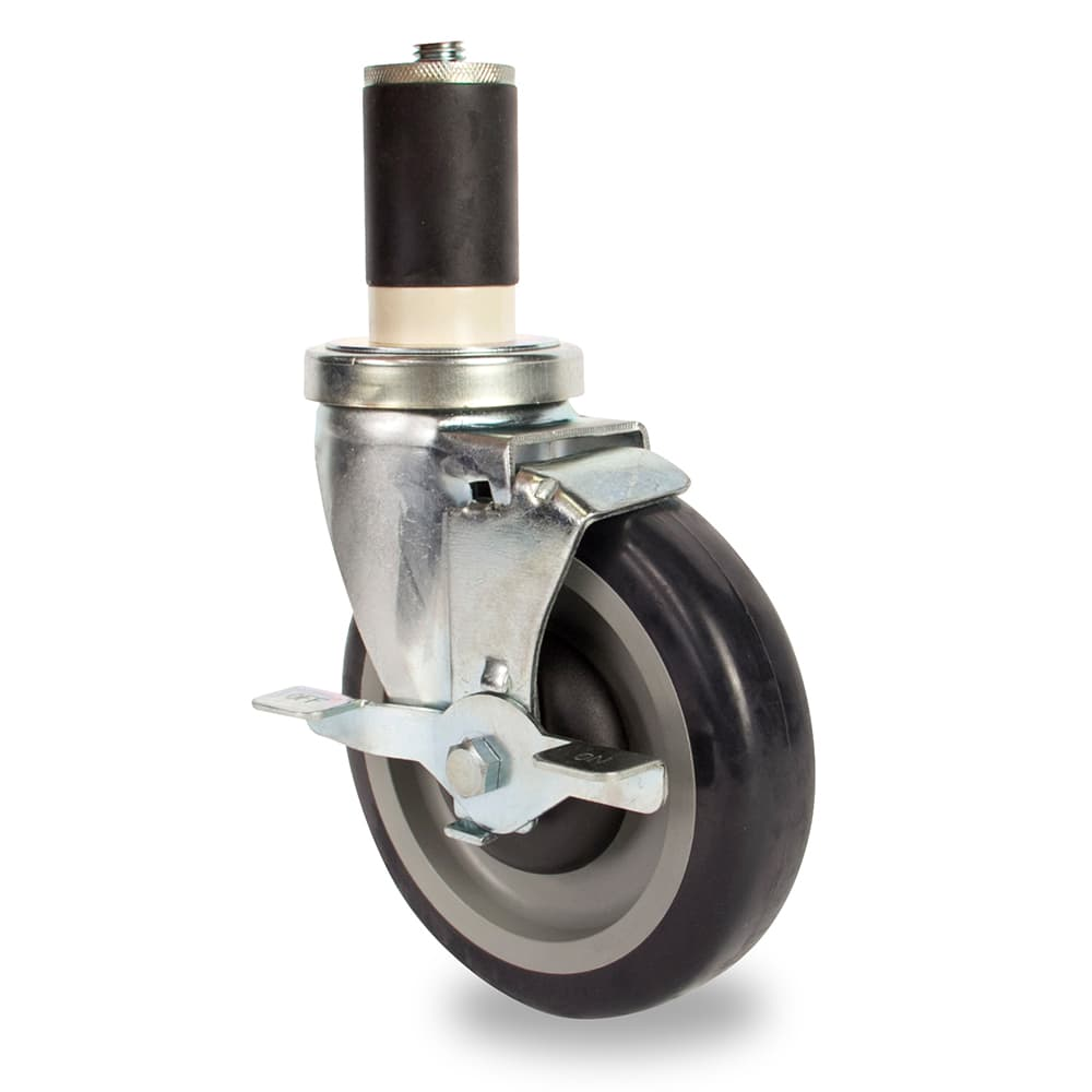"John Boos CAS01-R 5"" Heavy Duty Locking Casters for Round Legs"