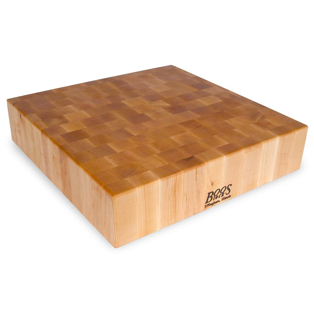 "John Boos CCB24-S Chopping Block, 24 x 24"", 4"" Hard Rock Maple End Grain"