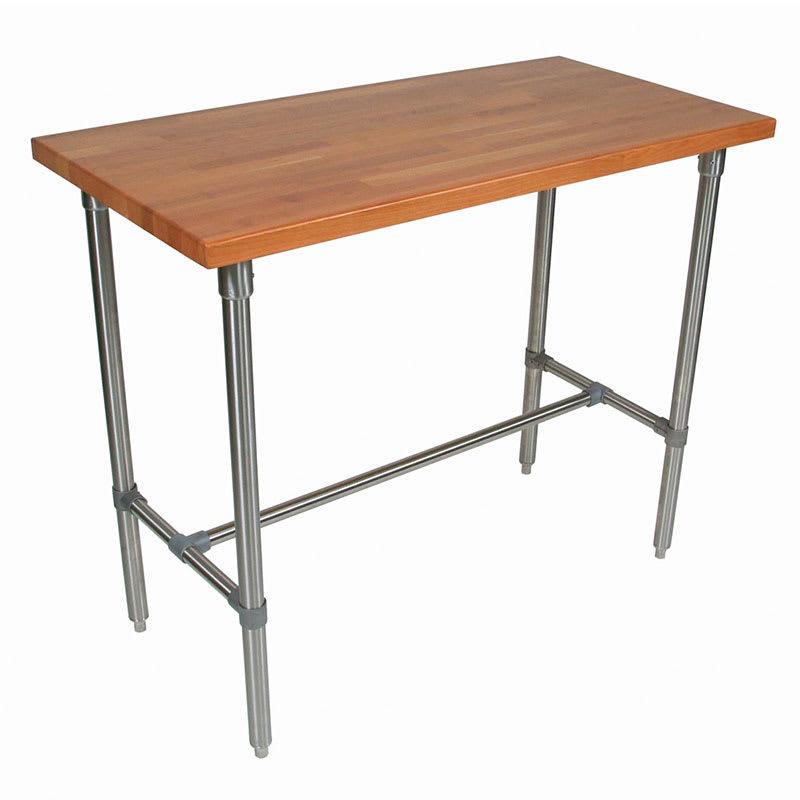 "John Boos CHY-CUCKNB430-40 Cucina Americana Classico Table, Cherry, 48 x 30 x 40"" H"