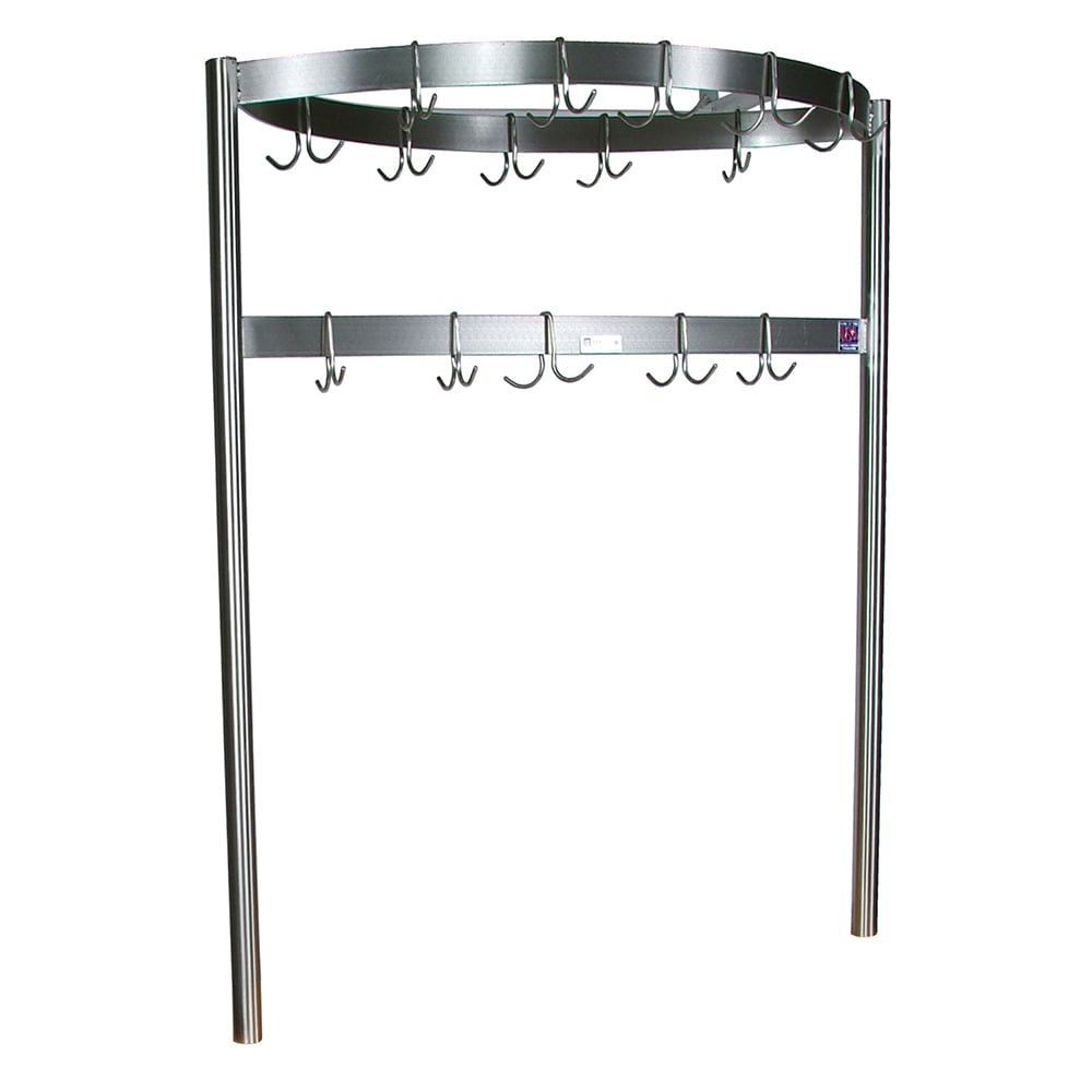 John Boos CPRB03 Pot Rack w/ 12-Double Hooks, Boat Shaped, 72x2x.18""