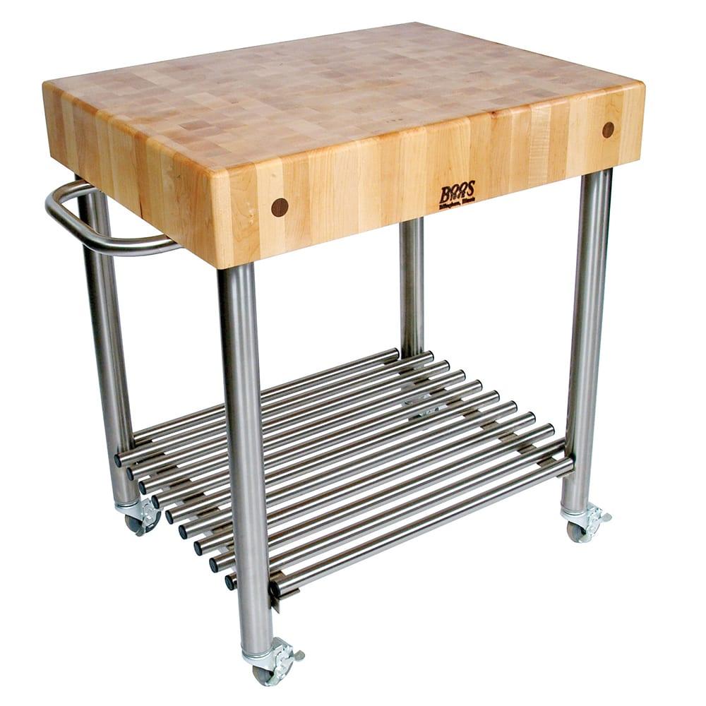 John Boos Cucd15 Cucina D Amico Cart 24 W X 30 L 35 H Stainless Shelf Maple Top