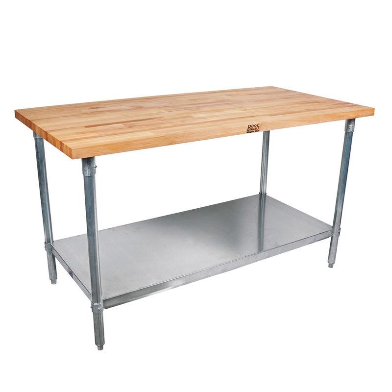 """John Boos CUCSN10 Cucina Grandioso Work Table w/ Hard Rock Maple Flat Top, 36x70x30"""""""