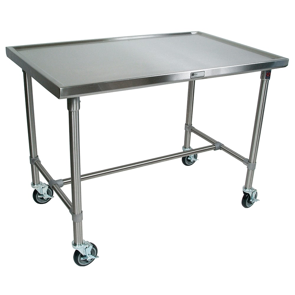 John Boos CU-MAR4824 Mariner Table w/ Center Bracing, Stainless Top & Legs, 48x24x35.5""