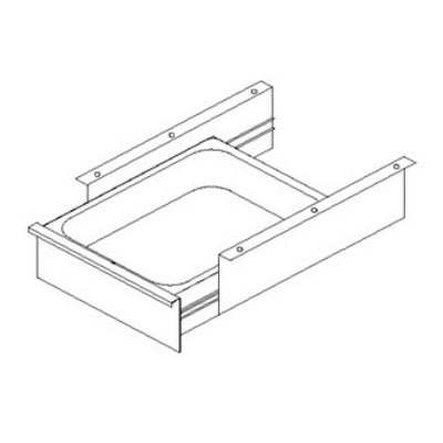 John Boos D09 Front Drawer & Pan for Stainless Tables w/ Roller Bearing, 15 x 20 x 5""