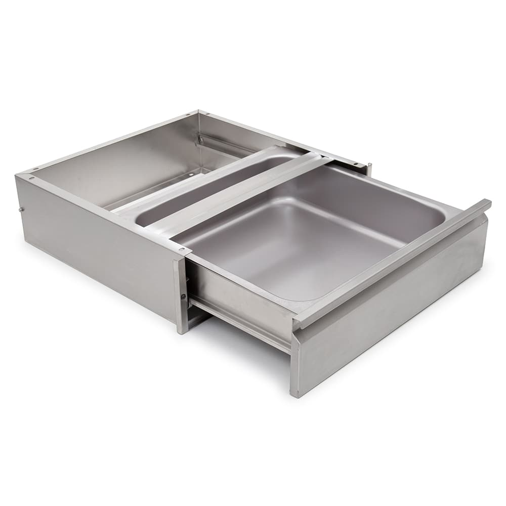 """John Boos DR2020SC-W Self-Closing Drawer for Wood Top Tables - Roller Bearings, 20x20x5"""", Stainless"""