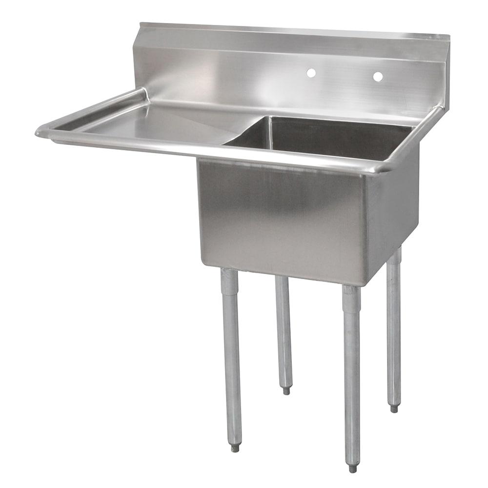 "John Boos E1S8-1620-12L18 36.5"" 1-Compartment Sink w/ 16""L x 20""W Bowl, 12"" Deep"