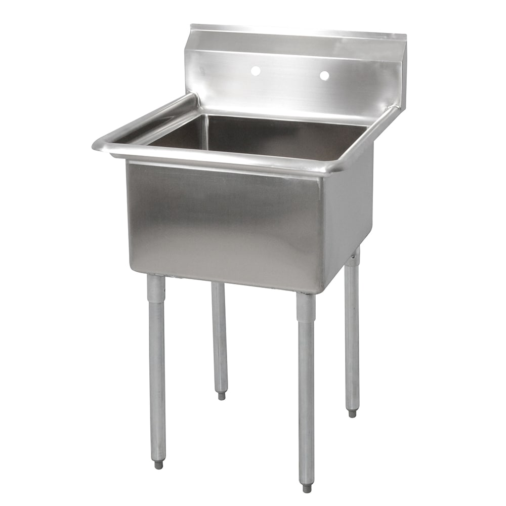 "John Boos E1S8-18-12 23"" 1-Compartment Sink w/ 18""L x 18""W Bowl, 12"" Deep"