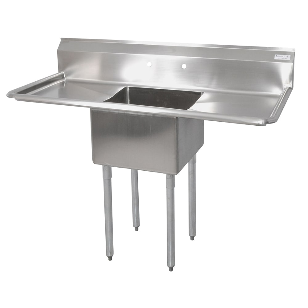 "John Boos E1S8-18-12T18 54"" 1 Compartment Sink w/ 18""L x 18""W Bowl, 12"" Deep"