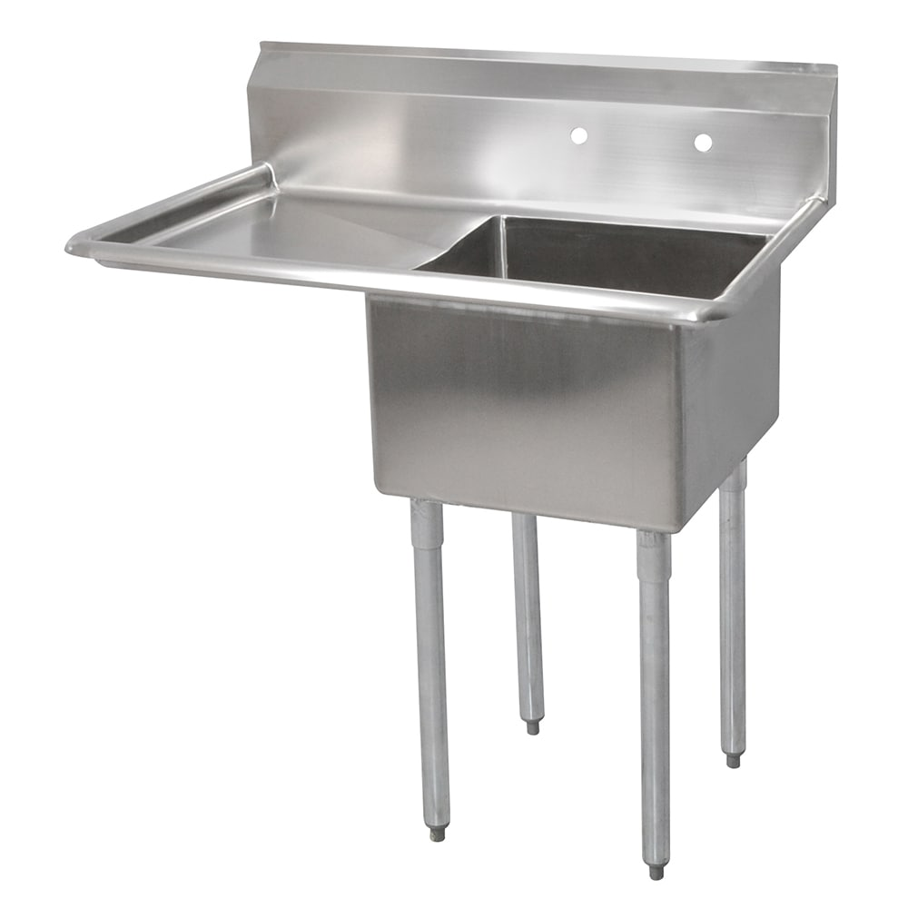 "John Boos E1S8-24-14L24 50.5"" 1-Compartment Sink w/ 24""L x 24""W Bowl, 14"" Deep"
