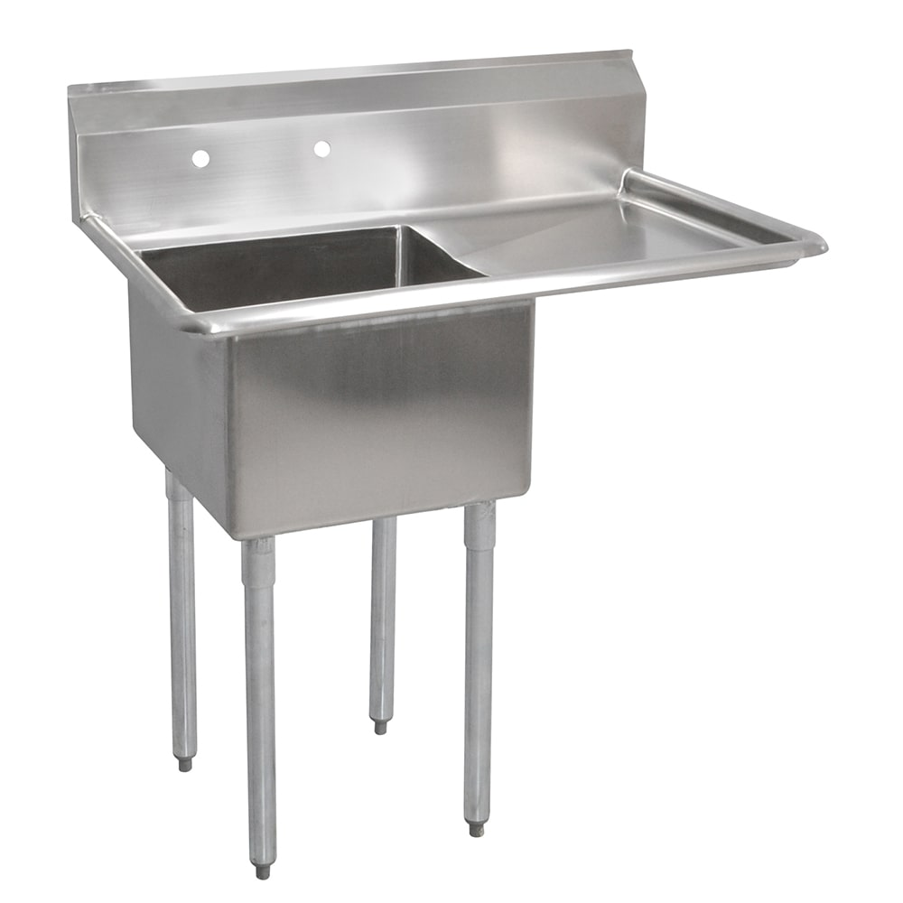 "John Boos E1S8-24-14R24 50.5"" 1 Compartment Sink w/ 24""L x 24""W Bowl, 14"" Deep"