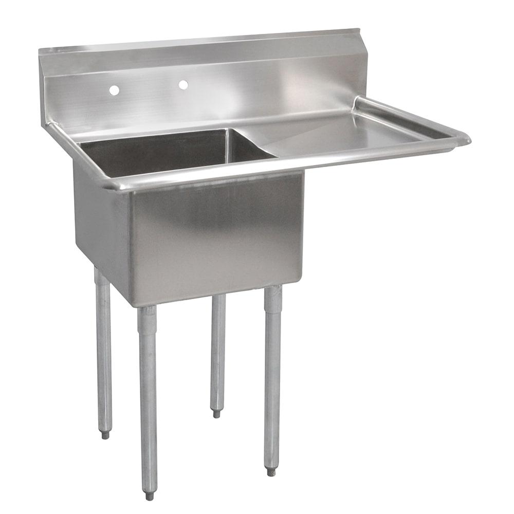 """John Boos E1S8-24-14R24 50.5"""" 1-Compartment Sink w/ 24""""L x 24""""W Bowl, 14"""" Deep"""
