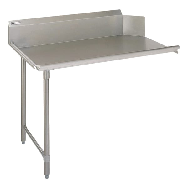 "John Boos EDTC8-S30-L72 72"" Clean Dishtable w/ Galvanized Legs & 18-ga Stainless Top, L to R"