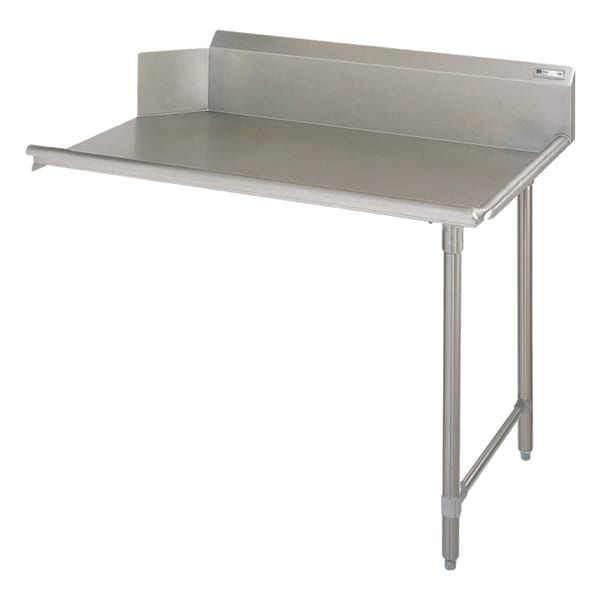 "John Boos EDTC8-S30-R48 48"" Clean Dishtable w/ Galvanized Legs & 18 ga Stainless Top, R to L"