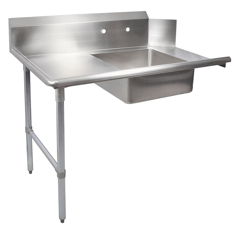 "John Boos EDTS8-S30-L36 36"" Soiled Dishtable w/ Galvanized Legs & 18 ga Stainless Top, L to R"