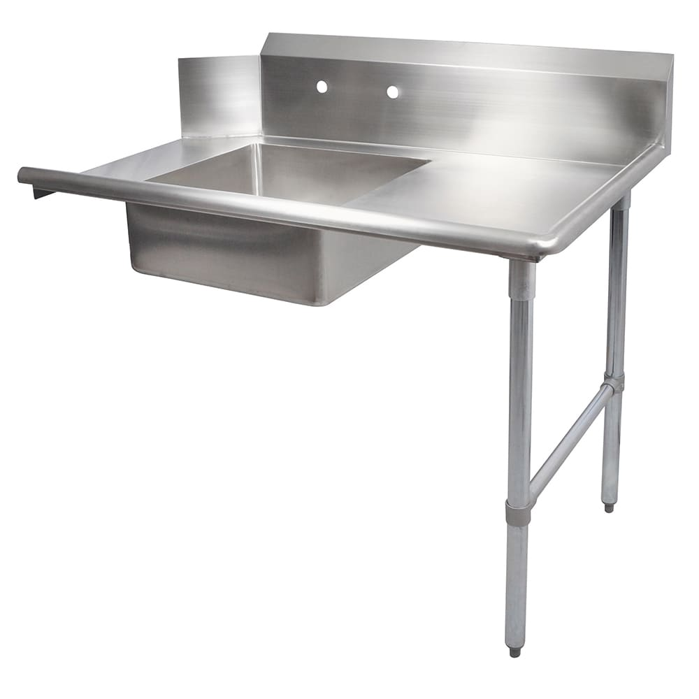 "John Boos EDTS8-S30-R72 72"" Soiled Dishtable w/ Galvanized Legs & 18 ga Stainless Top, R to L"