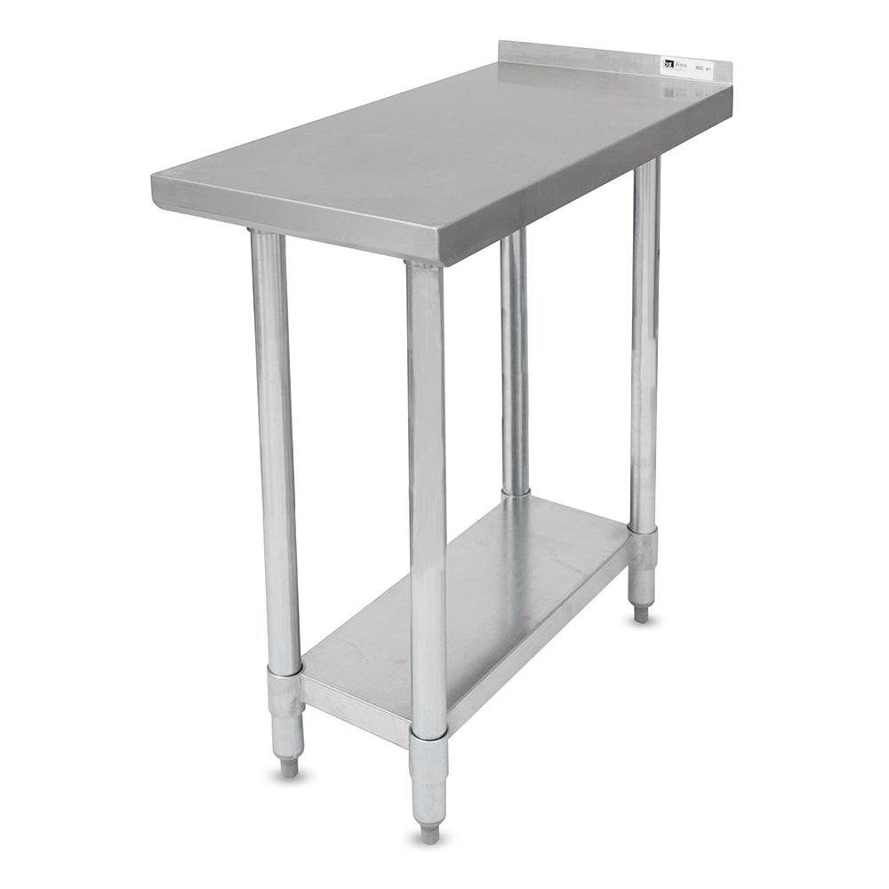 "John Boos EFT8-3015SSK Filler Table - 30x15""L, 1-1/2"" Backsplash, 18-ga Stainless"