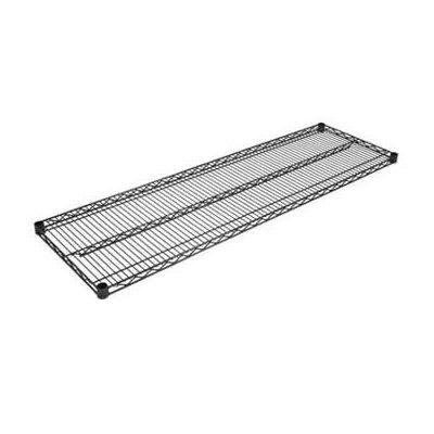 """John Boos EPS-1424-BK Epoxy Coated Wire Shelf - 24""""W x 14""""D"""