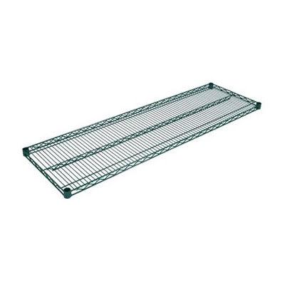 """John Boos EPS-1424-G Epoxy Coated Wire Shelf - 24""""W x 14""""D"""