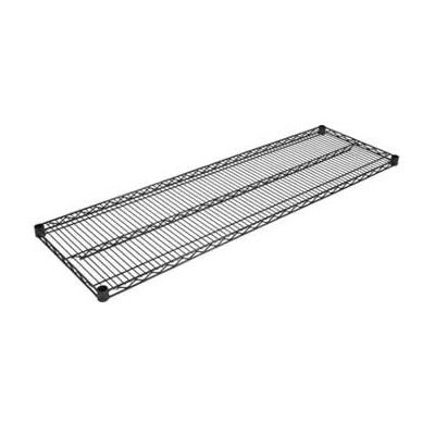 "John Boos EPS-2172-BK Epoxy Coated Wire Shelf - 72""W x 21""D"