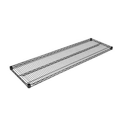 "John Boos EPS-2472-BK Epoxy Coated Wire Shelf - 72""W x 24""D"