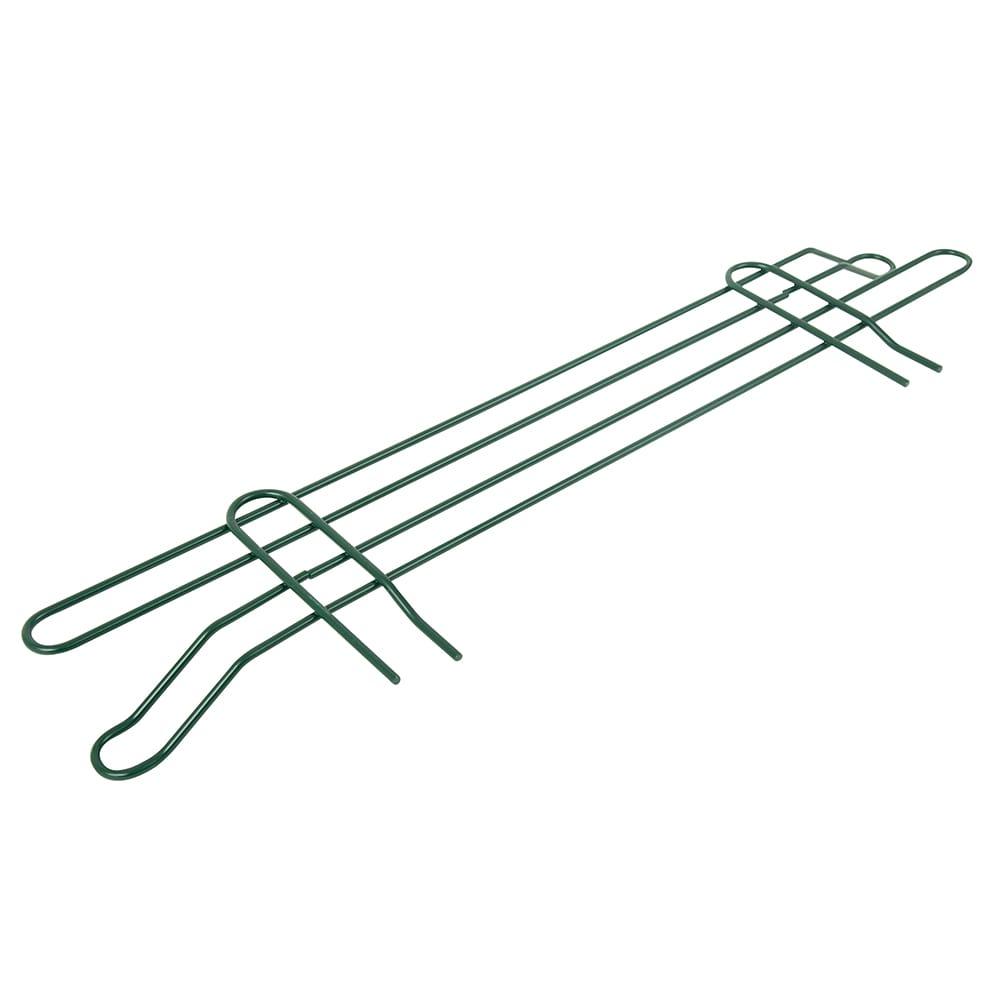 "John Boos EPS-L24-G Wire Shelving Ledge - 24"" x 4"", Green"