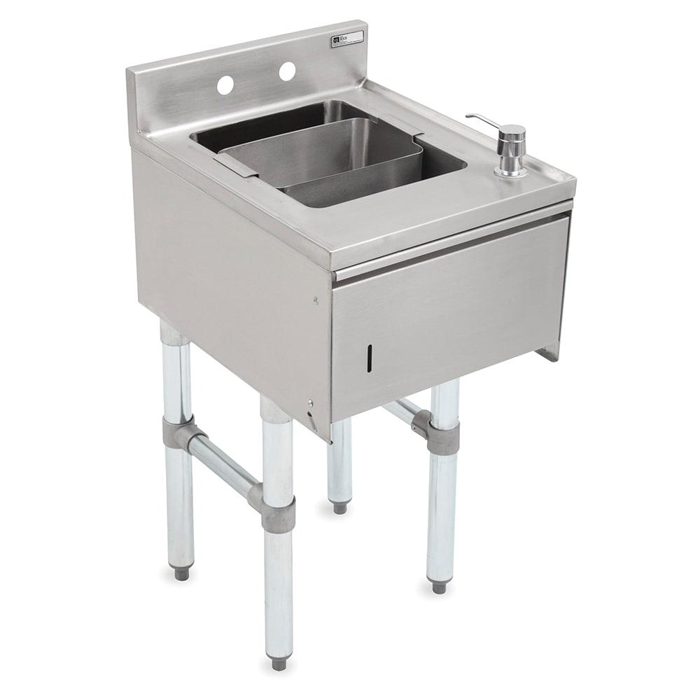 "John Boos EUBDS-1518STD Underbar Dump Sink w/ Galvanized Legs, 15x18x33.125"""