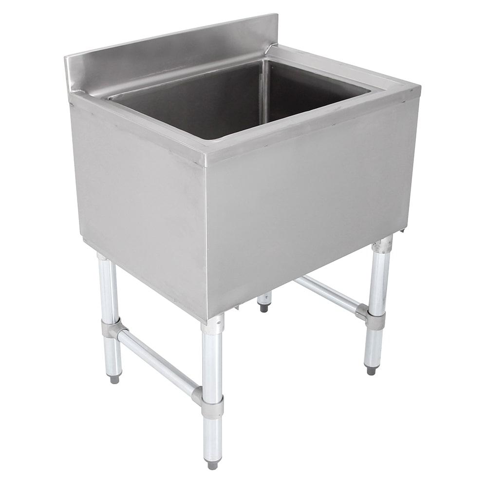"John Boos EUBIB-12-2421 Underbar Insulated Ice Bin w/ Galvanized Legs, 24 x 21"""