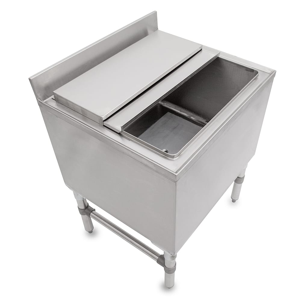 "John Boos EUBIB-4818CP7 Underbar Ice Bin - 7 Circuit Cold Plate, Insulated, 48x18x30"", 18 ga Stainless"