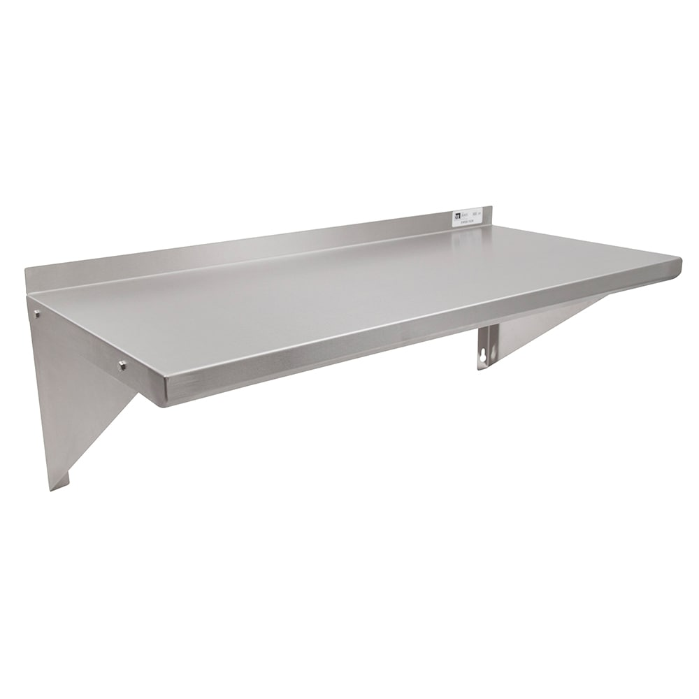 "John Boos EWS8-1624 Solid Wall Mounted Shelf, 24""W x 16""D, Stainless"