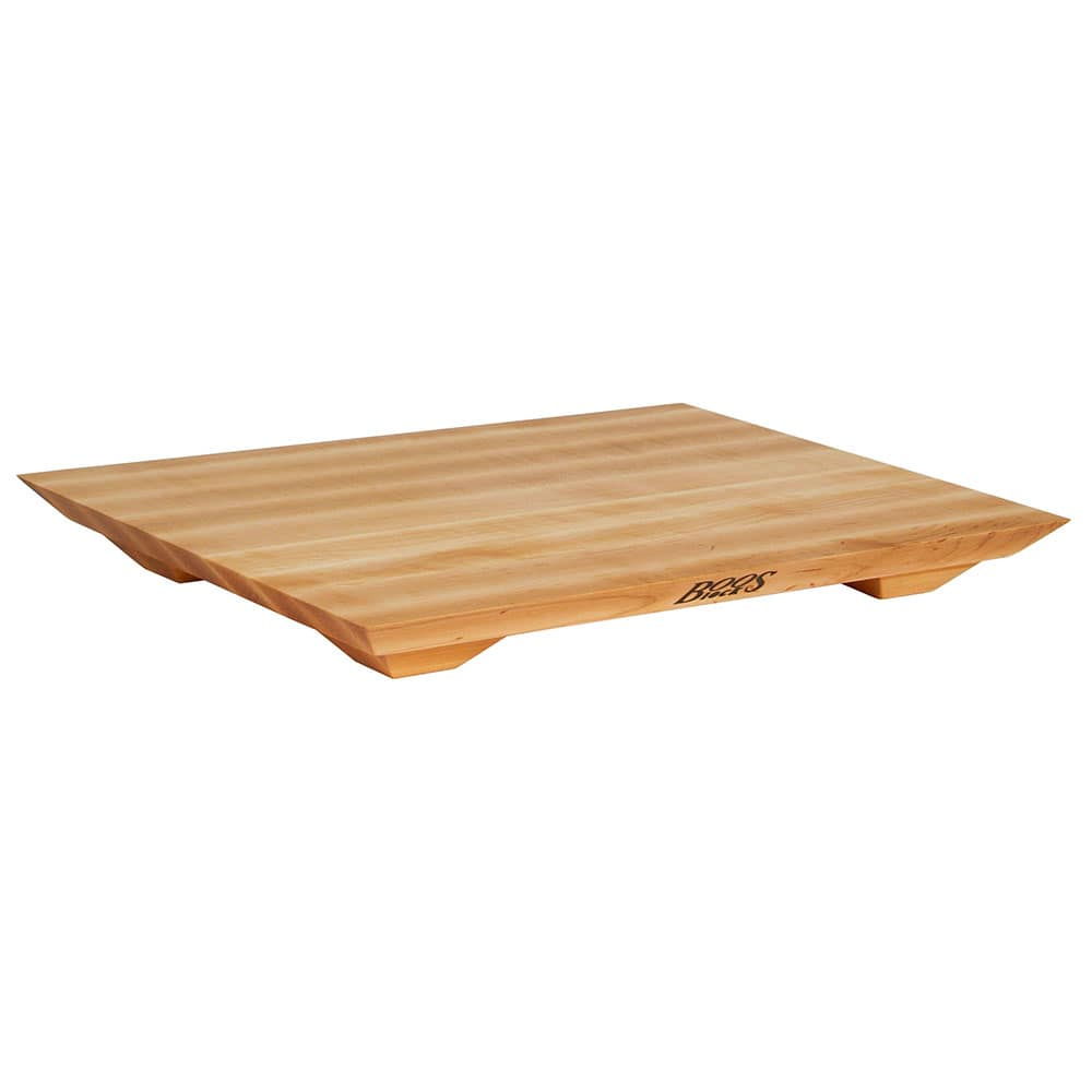 "John Boos FB201501 Cutting Board Gift Collection w/ Wooden Legs, 15x20x1"", Hard Rock Maple"