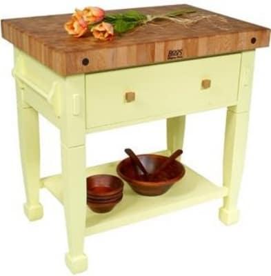 John Boos JASMN24243-D-S SB Jasmine Hard Maple Table, 24 x 24-in, Sporty Blue