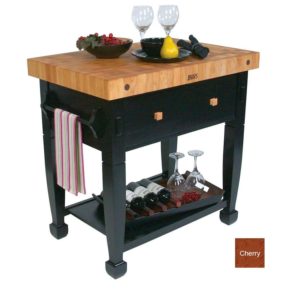 "John Boos JASMN36243-D-S CR Jasmine Hard Maple Table, 36 x 24"", Cherry"