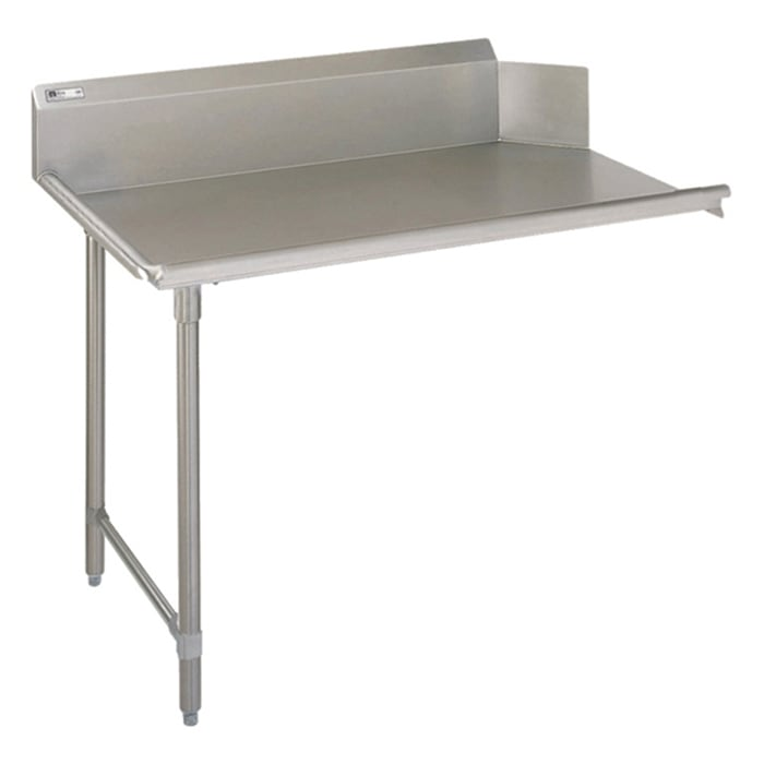 "John Boos JDTC-20-72L 72"" Clean Dishtable w/ 16-ga Stainless Legs, L to R"