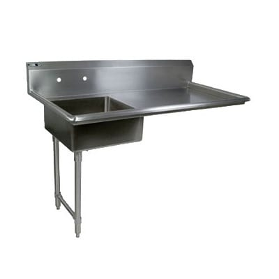 "John Boos JDTS-20-50UCL 50"" Undercounter Soiled Dishtable w/ 16-ga Stainless Legs, L to R"