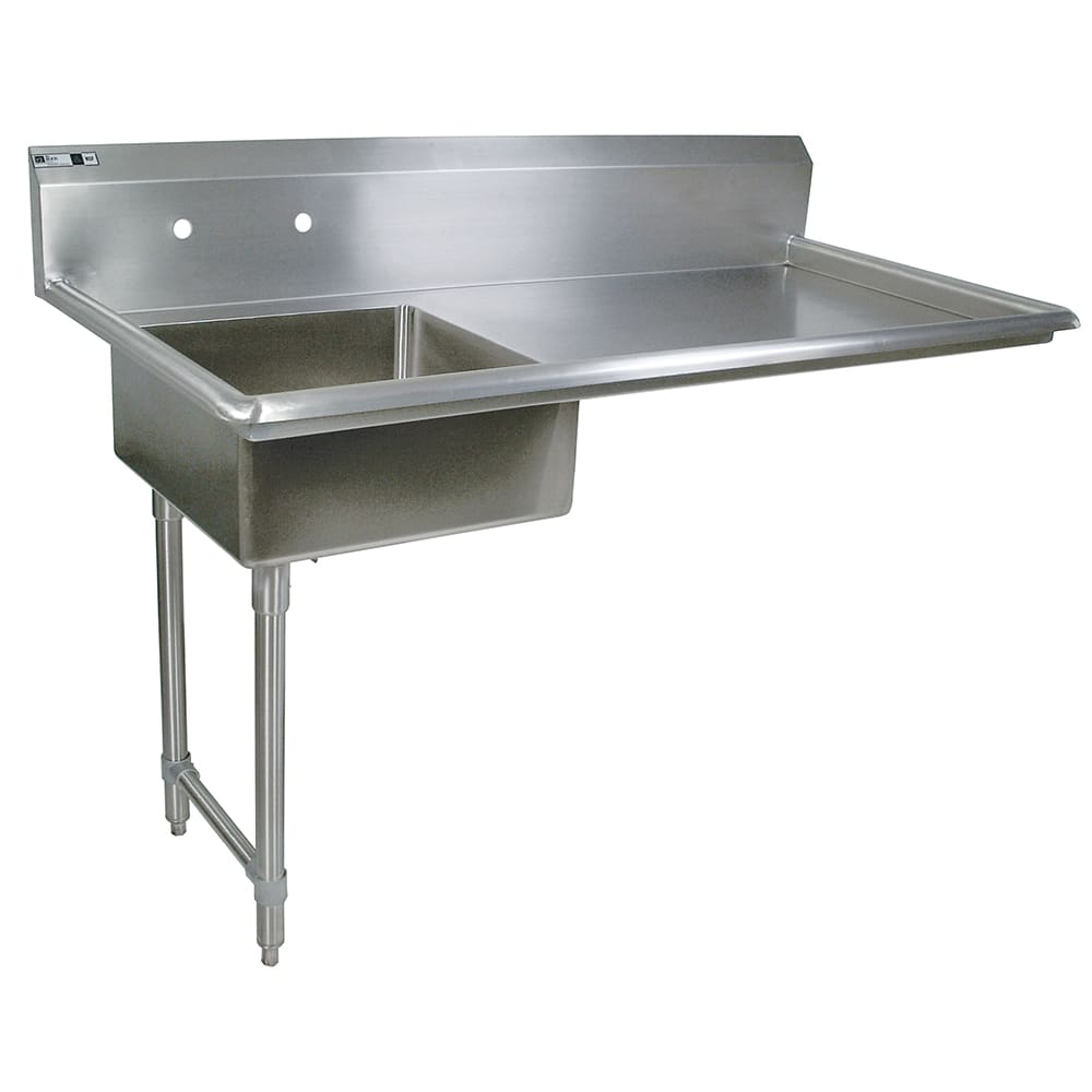 "John Boos JDTS-20-60UCL 60"" Undercounter Soiled Dishtable w/ 16-ga Stainless Legs, L to R"