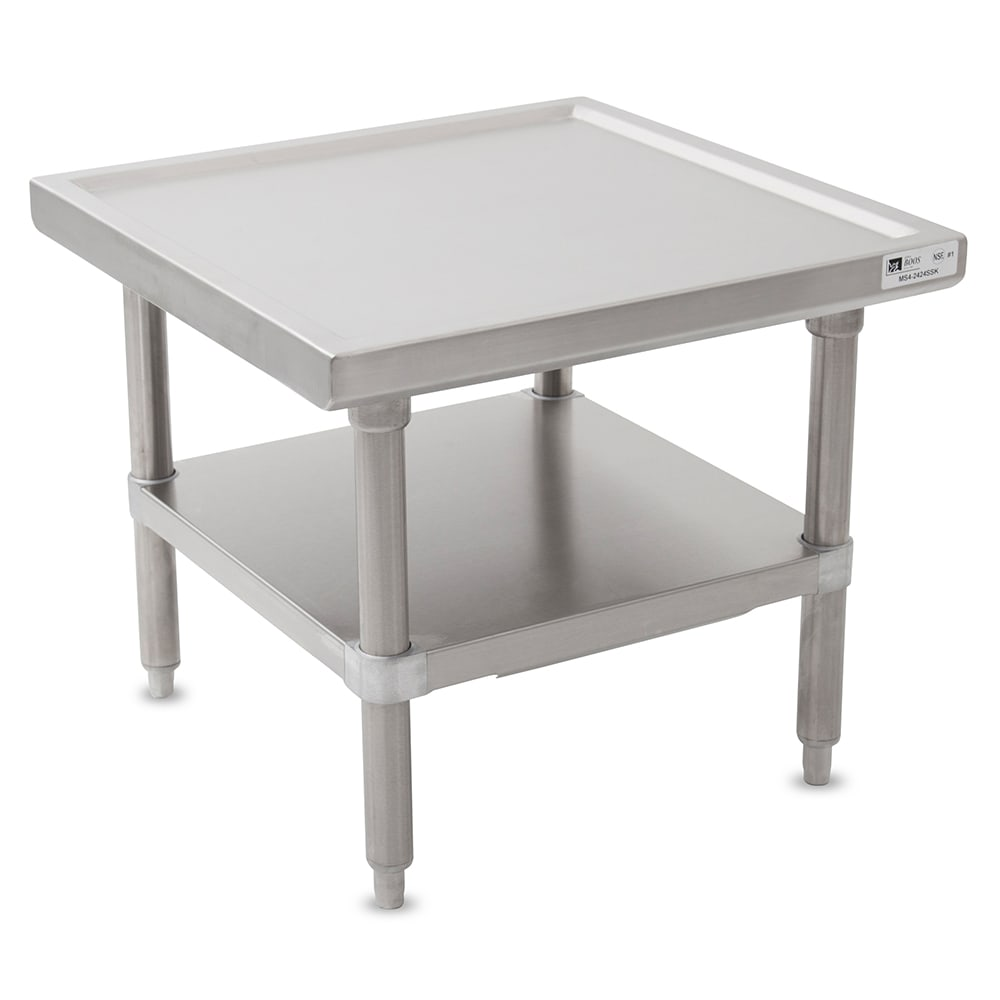 "John Boos MS4-2424SSK 24"" Mixer Table w/ All Stainless Undershelf Base, Shipped Knocked Down, 24""D"
