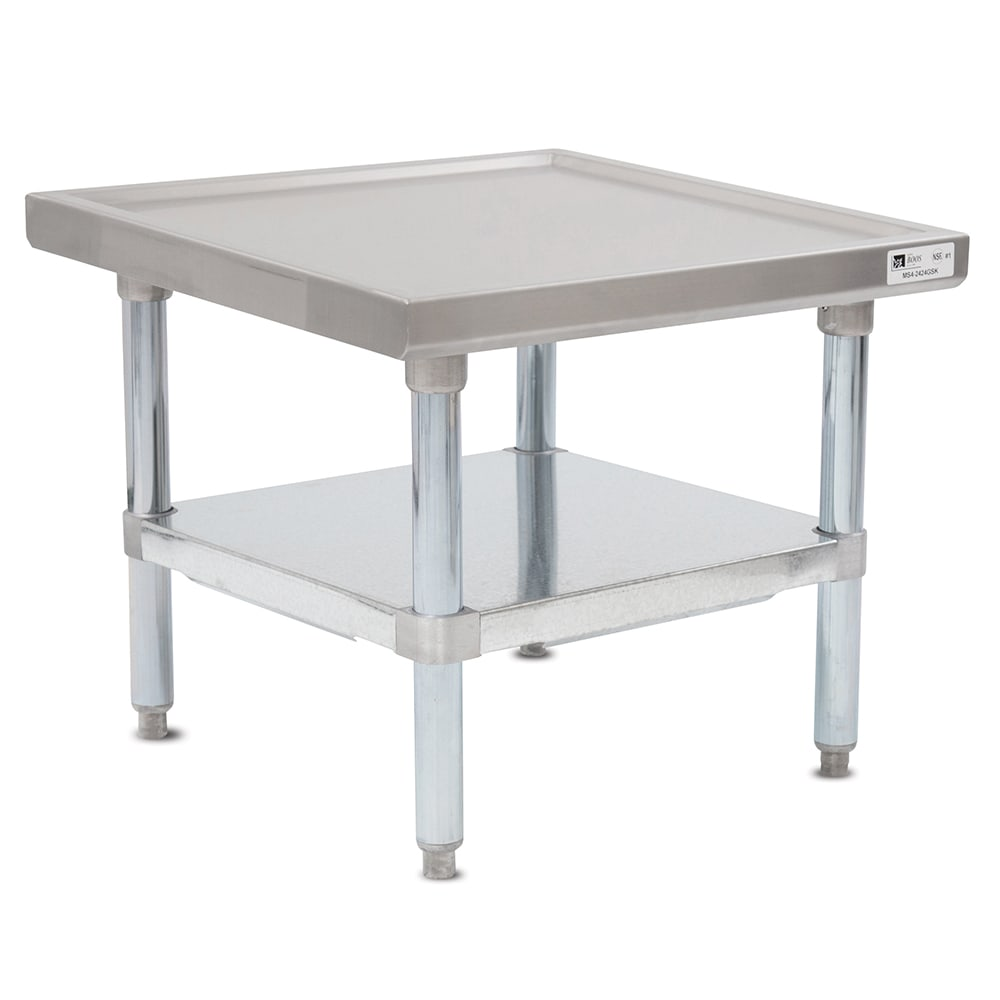 "John Boos MS4-3030GSK 30"" Mixer Table w/ Galvanized Undershelf Base, Shipped Knocked Down, 30""D"