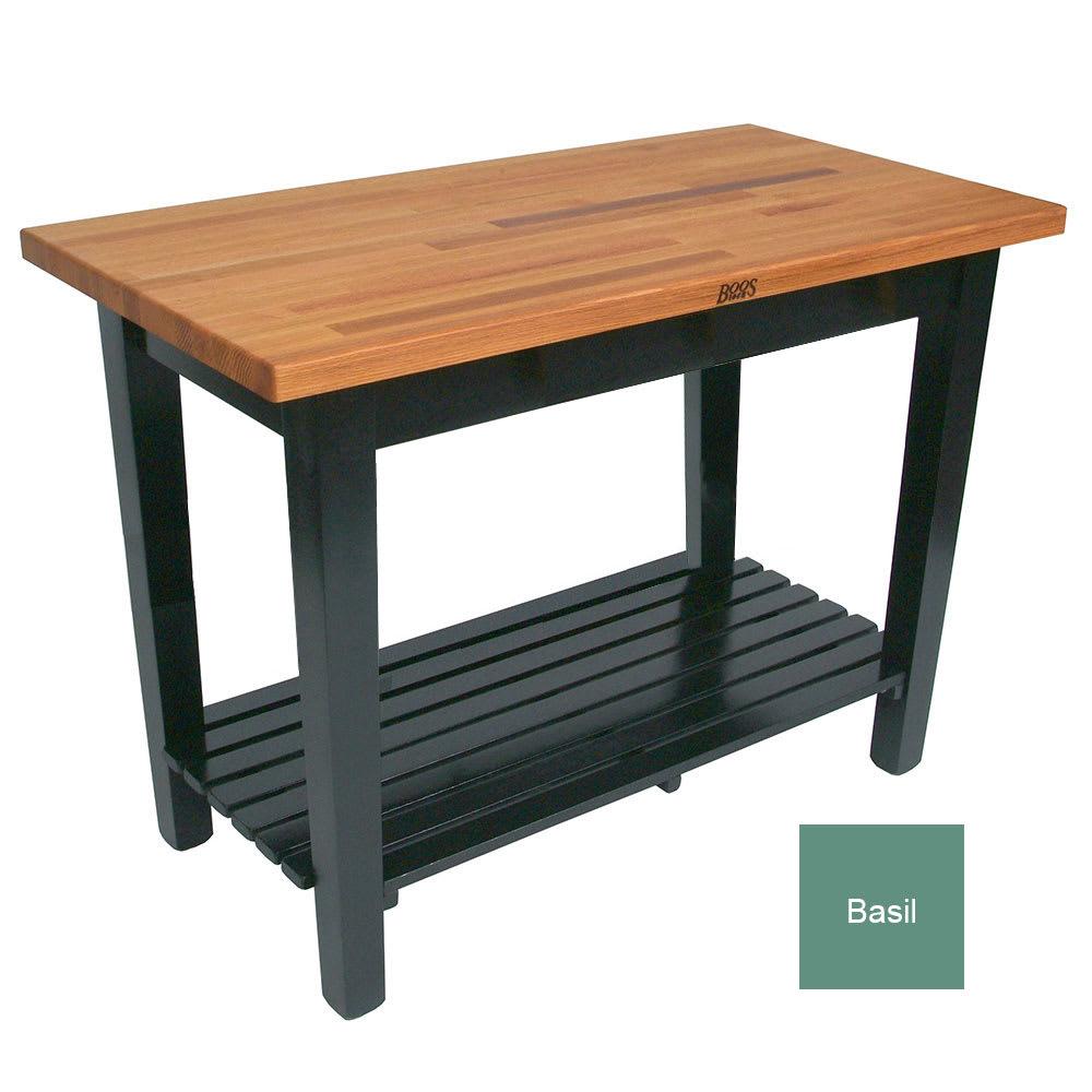 "John Boos OC4825 S BS American Heritage Oak C Table, 1-Shelf, 48 x 25 x 35"" H, Basil"