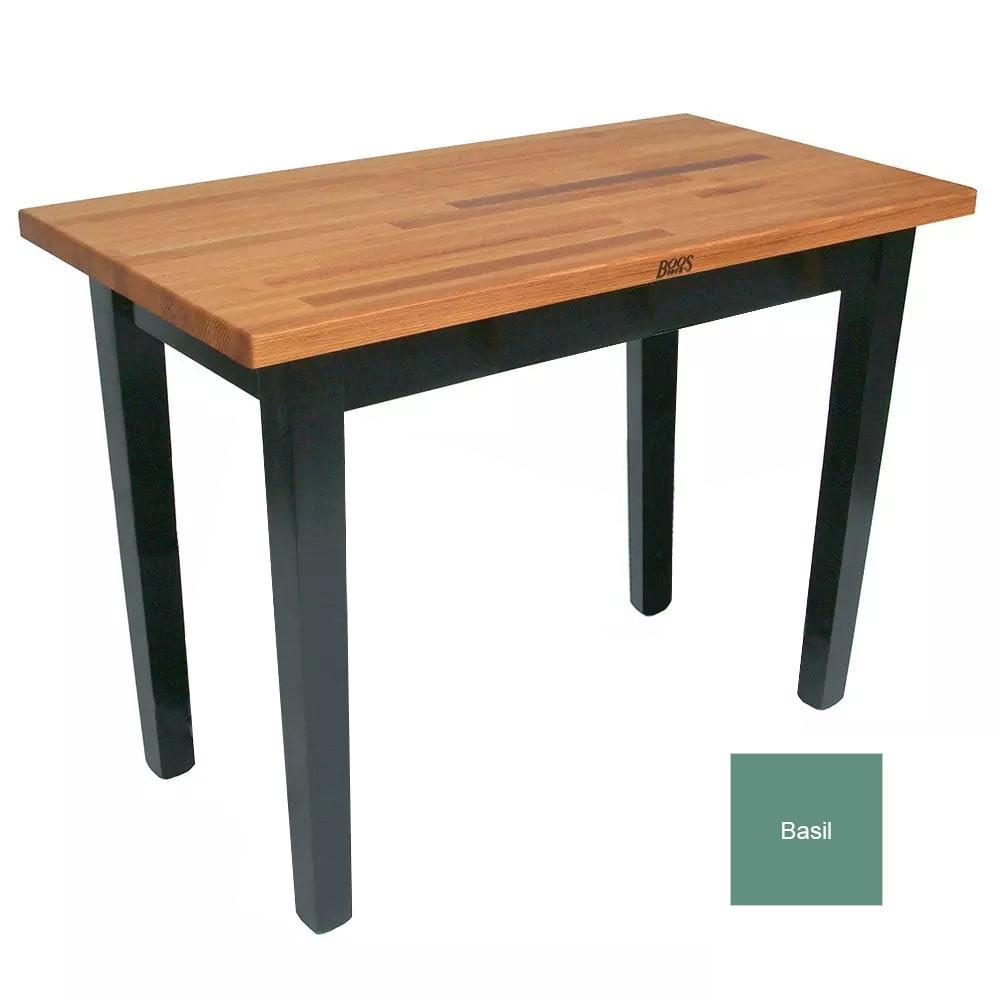 "John Boos OC6025 BS American Heritage Oak C Table, 60 x 25 x 35"" H, Basil"