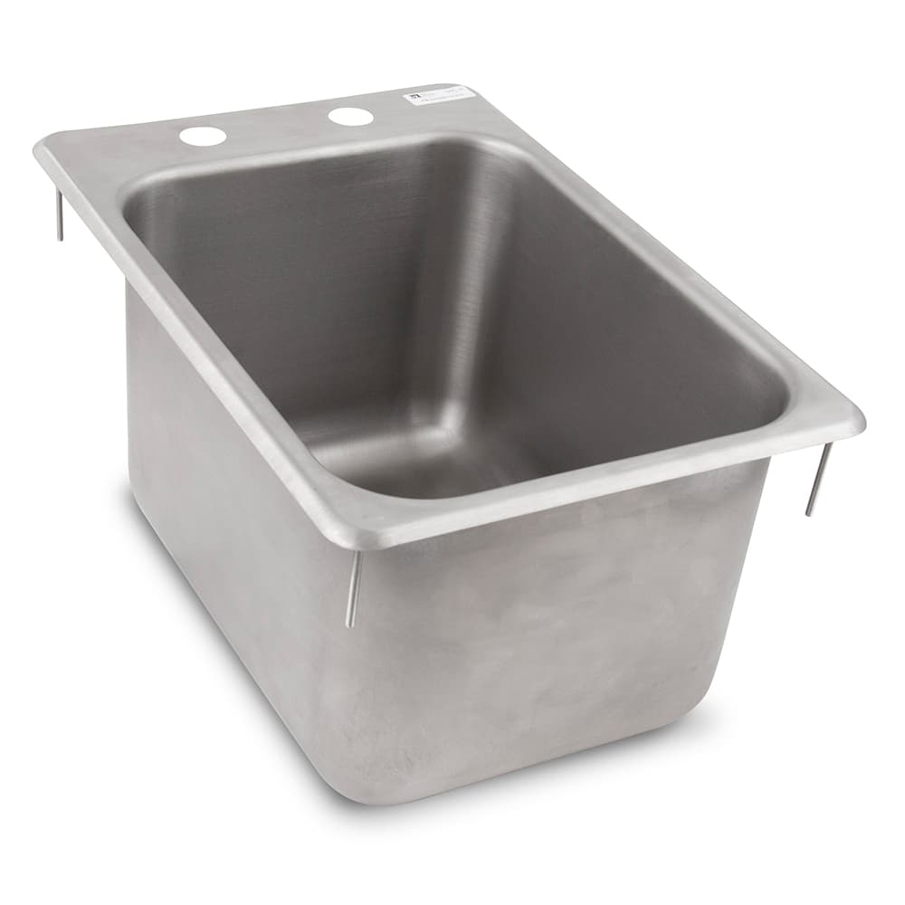 "John Boos PB-DISINK101410 (1) Compartment Drop-in Sink - 10"" x 14"", Drain Included"
