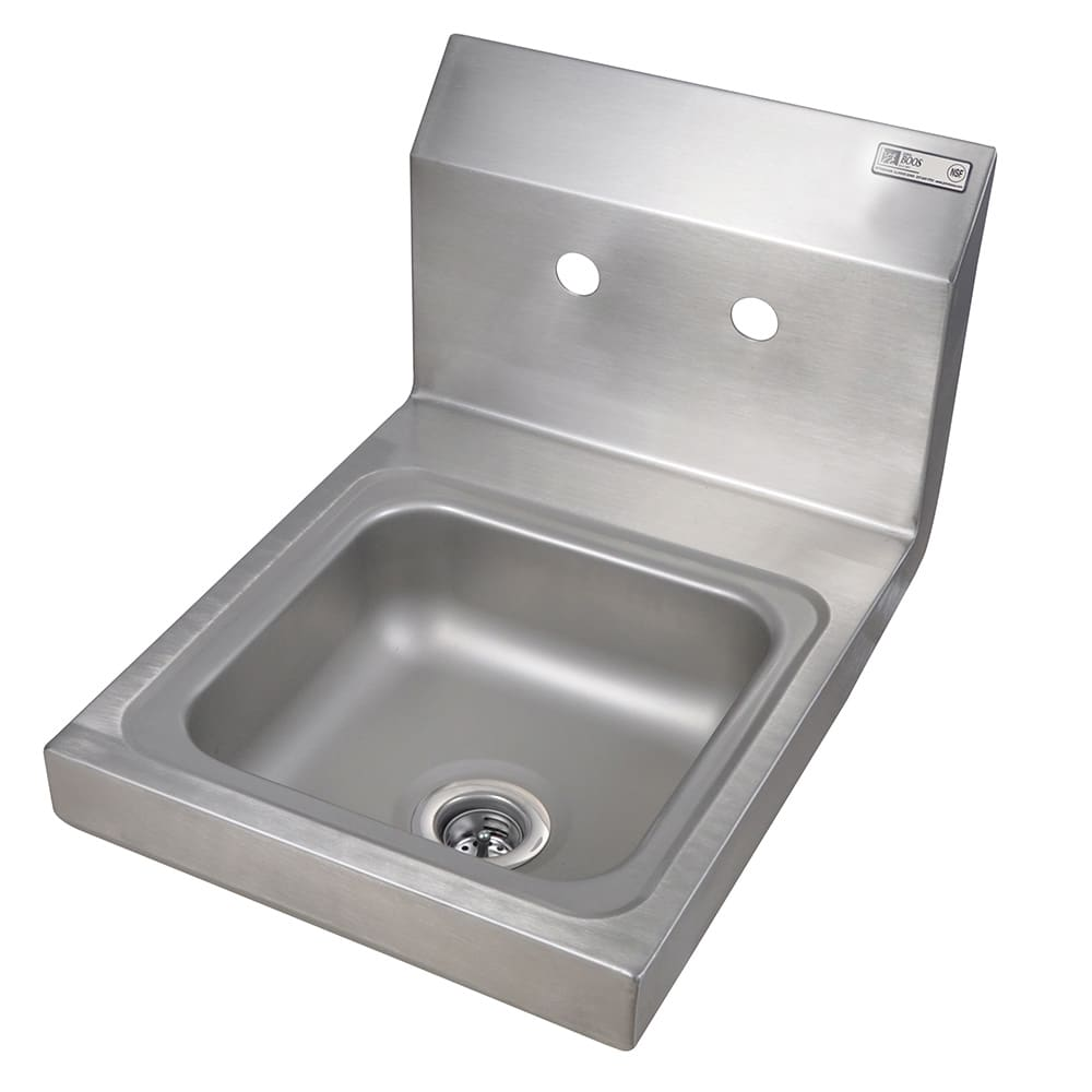 "John Boos PBHSW0909 Wall Mount Commercial Hand Sink w/ 9""L x 9""W x 5""D Bowl, Basket Drain"