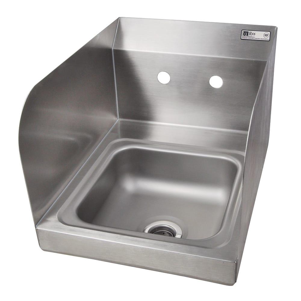 "John Boos PBHS-W-0909-SSLR Splash Mount Hand Sink w/ 2-Side Splash, 4"" On-Center, 9 x 9 x 5"" Bowl"
