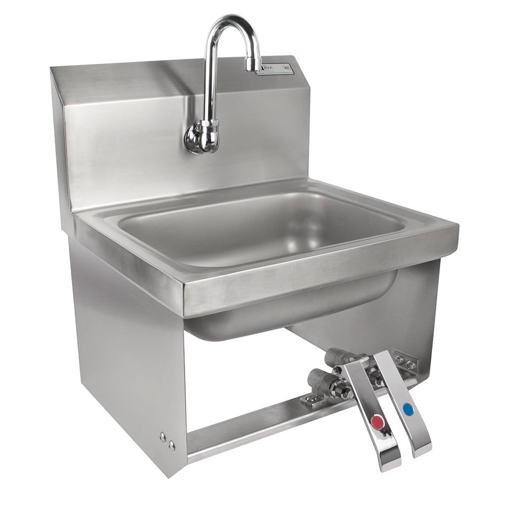 """John Boos PBHS-W-KVMB-1 Splash Mount Hand Sink w/ Gooseneck Spout, 1-Hole, 14 x 10 x 5"""" Bowl"""