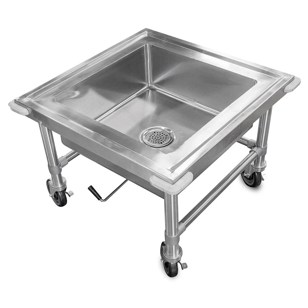 """John Boos PB-SS-208 20""""H Portable Soak Sink w/ 8""""D Bowl, Drain Connection"""