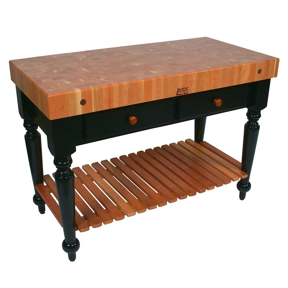 John Boos Rn Lr04 Ssl Le Rustica Table 4 Quot Thick End Grain