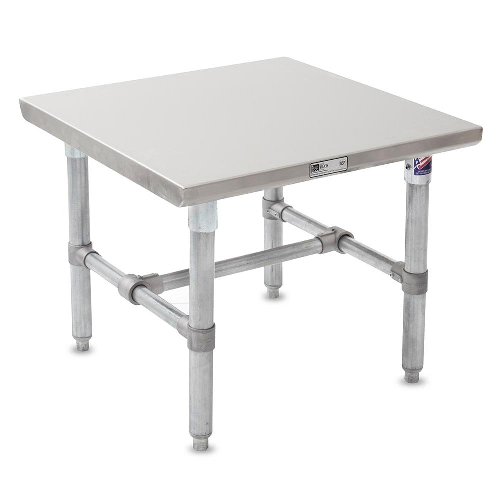 "John Boos S16MS02 Machine Stand w/ Galvanized Legs & Bracing, 24 x 24"""