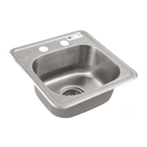 "John Boos SK01 Drop-In Commercial Hand Sink w/ 15""L x 15""W x 5""D Bowl, Basket Drain"