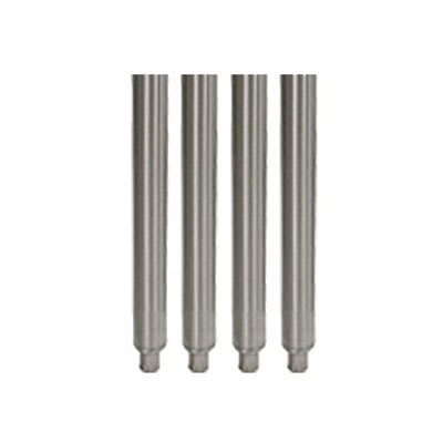 "John Boos SS-4LEG17 Set of 4 17"" Stainless Steel Legs w/ Adjustable Feet"
