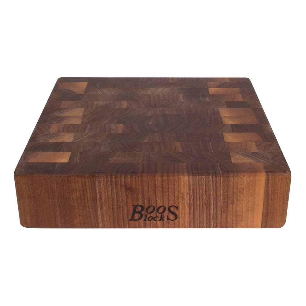 "John Boos WAL-CCB151503 Chopping Block w/ Grips, 15x15x3"", Walnut, Reversible"